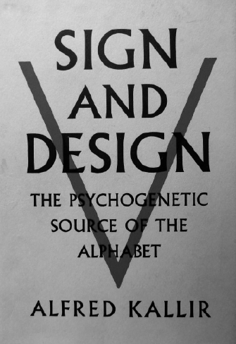 Alfred Kallir Sign and Design book cover, 1961