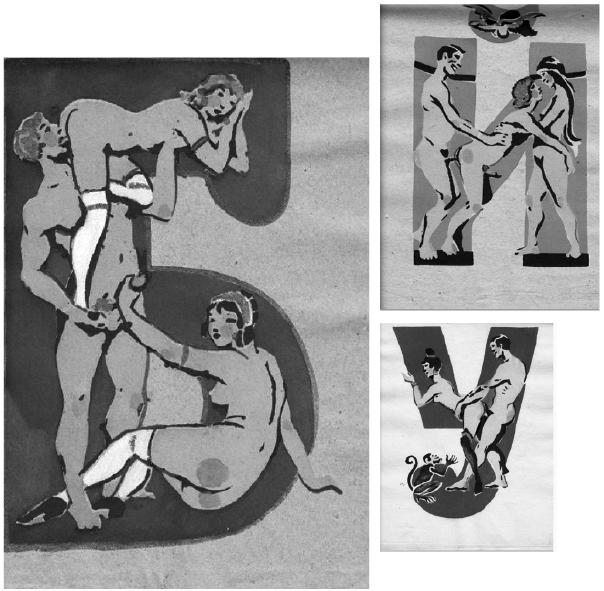 The Erotic Soviet Alphabet From Sergey Merkurov, 1931