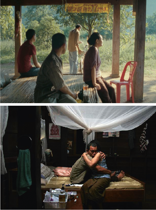 In the surrealist film, Uncle Boonmee Who Can Recall His Past Lives, Apichatpong Weerasethakul explores the concept of reincarnation against the haunting backdrop of his home country. The film follows the last days in the life of its titular character, who is dying of kidney failure on his farm. Boonmee is joined by his sister-in-law and nephew, who tend to him on his deathbed. The surrealist nature of the film is soon revealed, as the ghosts of Boonmee's dead wife and son arrive at the farm one night. His son appears in the form of a bizarre ghost monkey with piercing red eyes, as if Chewbacca had been conceived in John Carpenter's nightmare. The film then jumps between Boonmee's final days and his past incarnations as, among other creatures, a water buffalo and a catfish. The two-hour film is like taking a journey to the jungles of Southeast Asia and beyond, into the consciousness of the director himself. Though he adopted the material from a book of a similar name, Weerasethakul freely admits that the story and images are largely based on his memories and experiences. Boonmee's death from kidney failure is a retelling of how the director's father passed away.