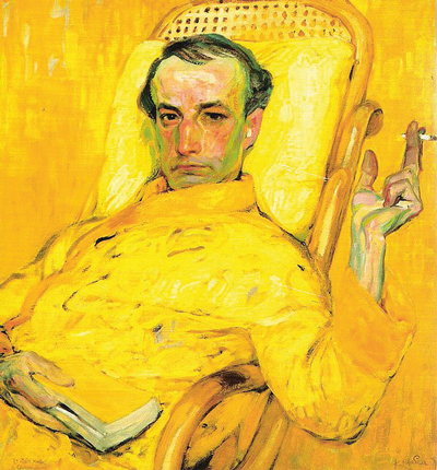Portrait by Frantisek Kupka, a Czech avant-garde painter living in Paris, of Charles Baudelaire, the French decadent poet, based on one of Nadar's daguerreotype photographs.